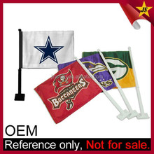 Manufacturer College NFL Sport Team Wholesale Custom Car Flag