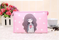 Cheap folding travel cosmetic bag, women toiletry bag, professional cosmetic makeup bag