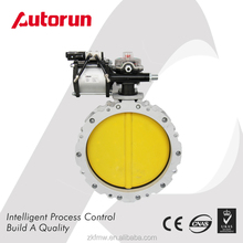 Pneumatic Flange Connecting Cement Powder Butterfly Valve