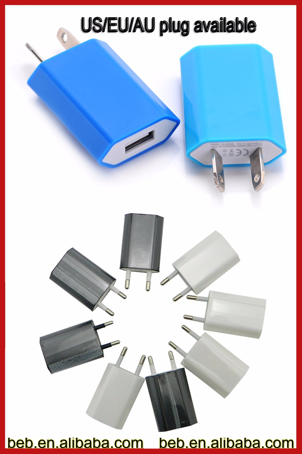 Promotional 5v 1.2a micro usb wall charger for iphone 6s plus