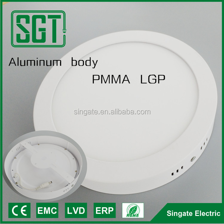 Hongli chip PMMA LGP led ceiling panel light round or square lamp