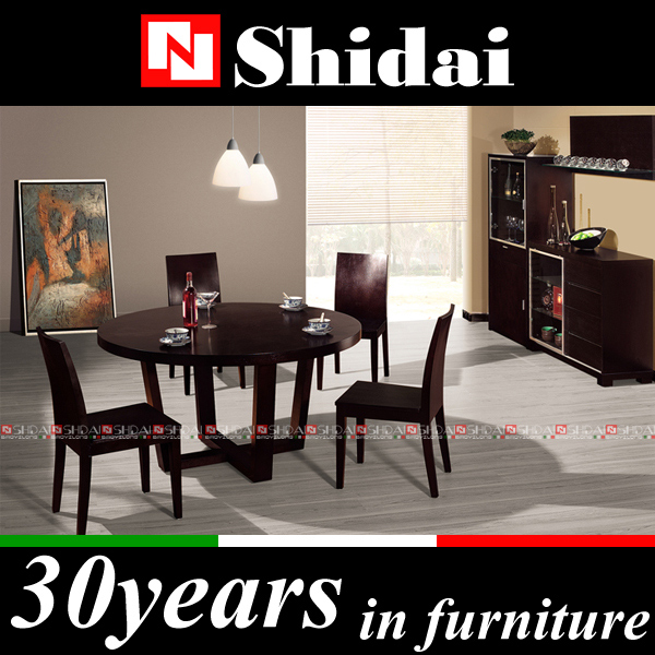 Factory direct sale dining room set / round dining table set / wooden dining table and chairs A-7