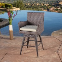 Outdoor Wicker Barstool Outdoor Rattan Garden