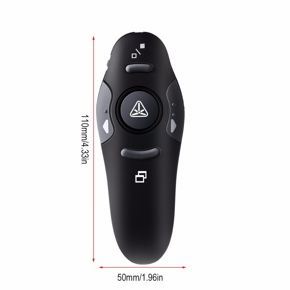 Custom logo print 2.4G Wireless USB RF Remote Control with Red Laser Pointers Pen for Turning PPT Powerpoint Presentation