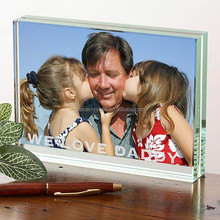 Rectangle glass photo paperweight
