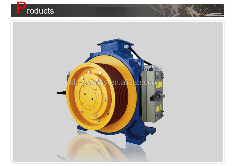 Top level cheapest small gearless traction machine