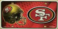 San Francisco 49ers NFL Embossed Wholesale Metal Novelty License Plate Tag Sign 1901M