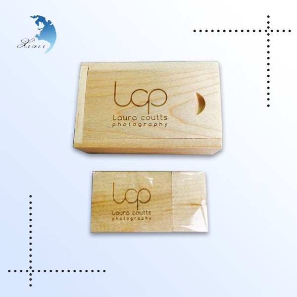 Promotional Nature wood usb memory flash drive high grade gift with box