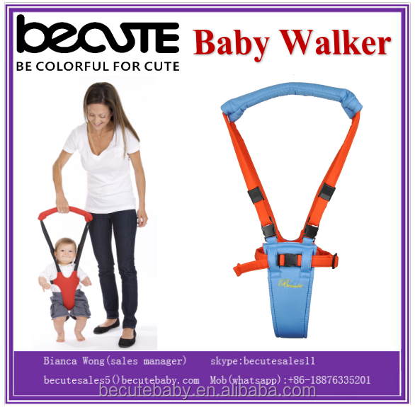 Portable folding Baby walker with handle bar for kids training ,Big rolling baby walkers