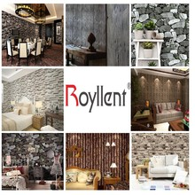 2015 beautiful 3d bricks stone New collection home decoration wallpaper