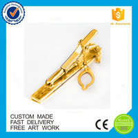 gold plated 3d tie clip