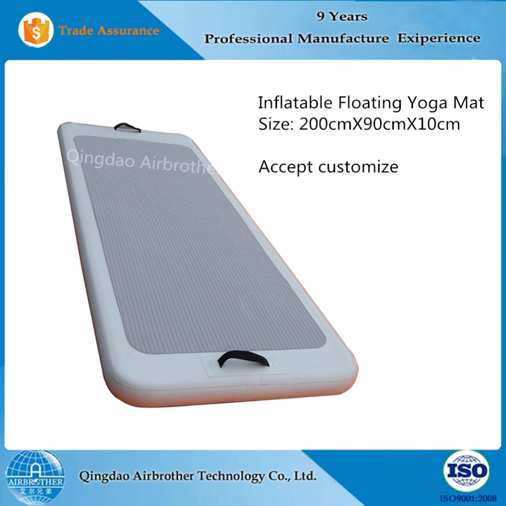 High Quality Body Fitness Exercise Inflatable Floating Yoga Mat
