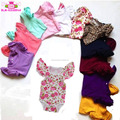 Baby frock top 100 baby names picture wholesale kid clothes blank romper girls multicolor triple flutters sleeveless onesie