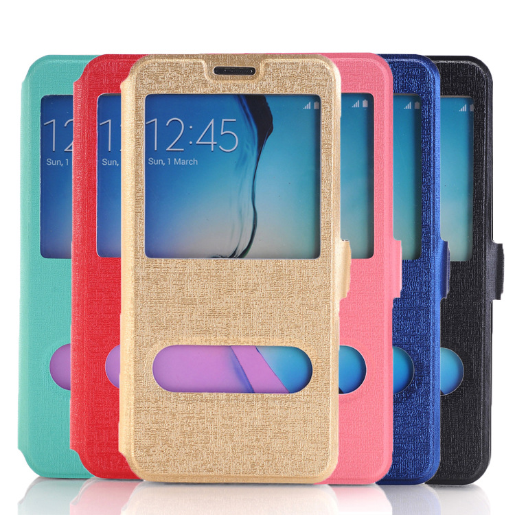 Thin Smart Flip Leather Case Window Case for Samsung Galaxy S7