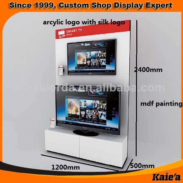 hot selling wood tv display stand for wall hanging