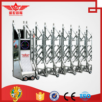 Automatic slide garden iron gates design J1423