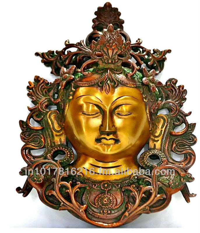 Buddha Wall Decor, Wall Hanging Metal Wall Sculpture India Buddah Tara