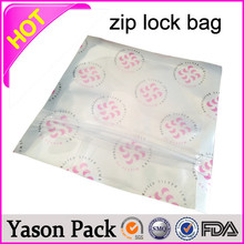 Yasonpack clear zip bag ldpe ziplock plastic bag drugs ziplock bag