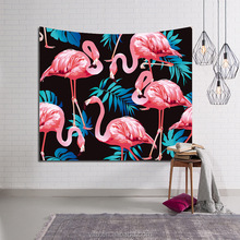 Flamingo print hippie living room wall art multi purpose hanging tapestry