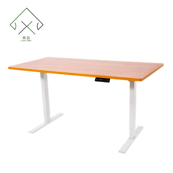 Height adjustable office desk with remote control