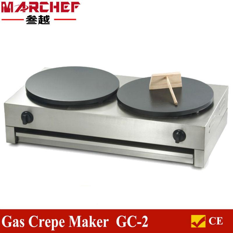 Double commercial gas crepe griddle pancake maker buy - Machine a crepe tefal ...