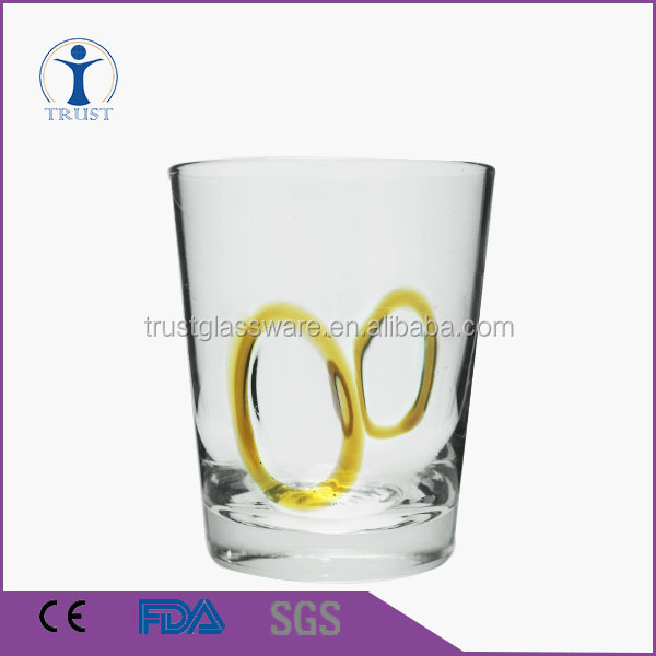 China Factory price supply customized cheap fancy unique round 8oz water drinking glass