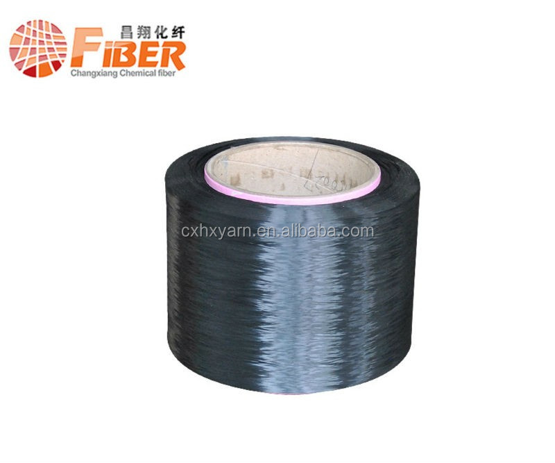black 150 polyester core spun polyester for cord