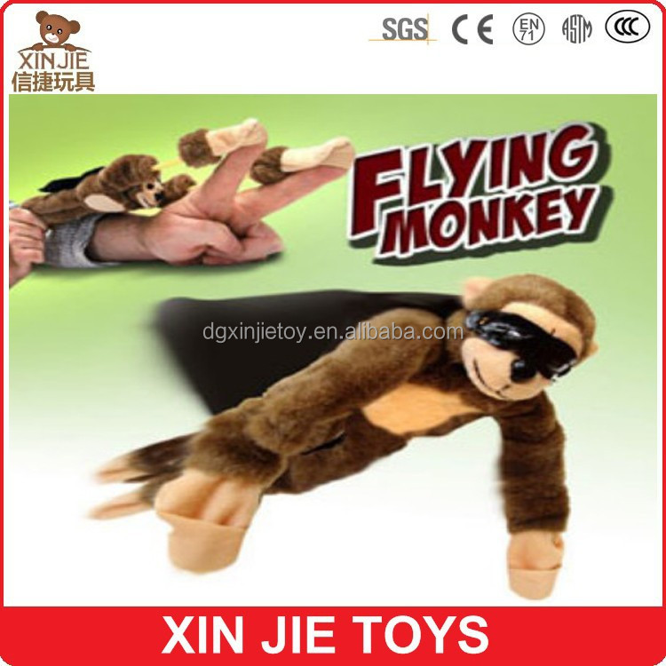 wholesale cute plush flying <strong>monkey</strong> toy with sound