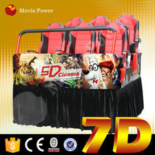 New game exciting 7d cinema movie install in shopping mall and amusement park 7d