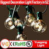 UL cetificited 8M 25 bulb holiday outdoor globe light decorative hanging garden globe lights