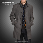 Winter wool coat ,stand-up collar and thickening cotton business style