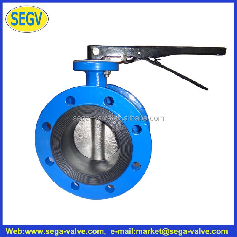 DN125 PN1.6MPa Triple Offset Double Flanged Type Bi-directional Metal-seated Butterfly Valve