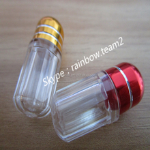 China Supplier Customized Green Blue Red Silver Gold Capsule Bottle/Bullet For Rhino Sex Pills