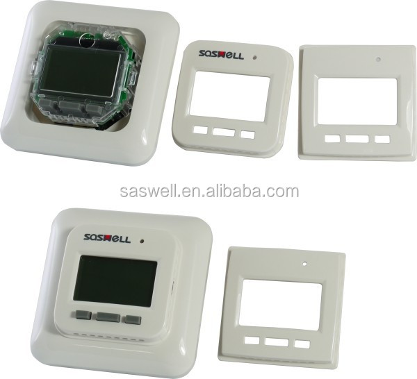 Heating for raidant sysytem with programmable LCD display room controller