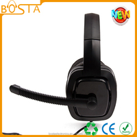 black big earmuff fashion gaming headphone with custom brand