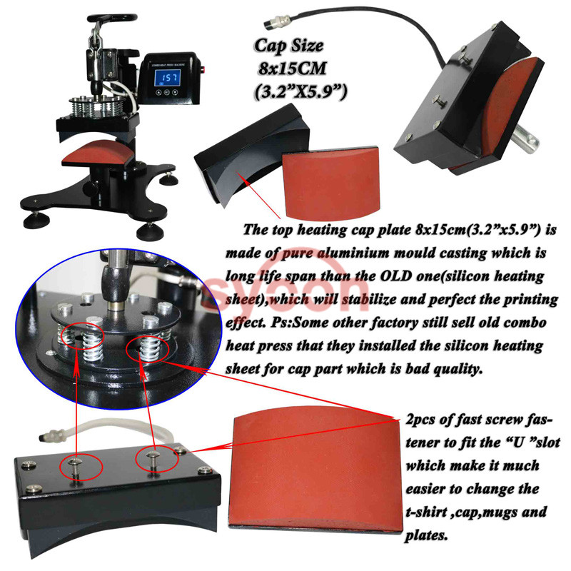 CE Approved 8 in 1 multifunction heat printing machine multicunction machine