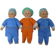 Leboo disposable nonwoven nurse cap and gown