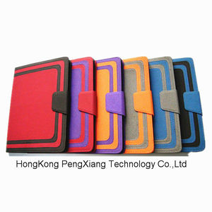 For New iPad Pebble Grain Leather Pouch Case Universal PU Bag Shell Tablet Covers For iPad 4 3 2