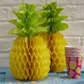 Huge paper Honeycomb Pineapple for Luau Party table Decorations