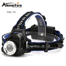 AloneFire HP79 Zoomable LED Headlight Headlamp T6 led Light 18650 Head lights head lamp 2000lm XML-T6 lampe frontale BIKE light