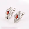 Xuping Fashion Earrings Hot sales popular Rhodium plated hoop earrings with glass