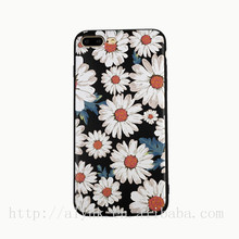 Color Painting Blossom Sun-flower Soft Tpu Cell Case for IPhone 5 Back Cover with press key
