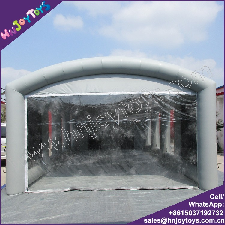 Large size gray color inflatable truck spray booth