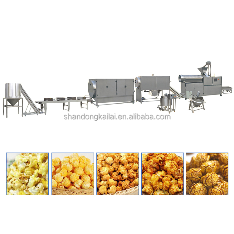 China Factory Price Automatic Caramel and Savory Flavor Industrial Gas Popcorn Machine