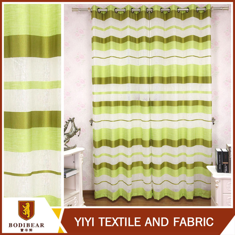fluorescent green crossed designs on curtain sheer dolly fabric window curtain