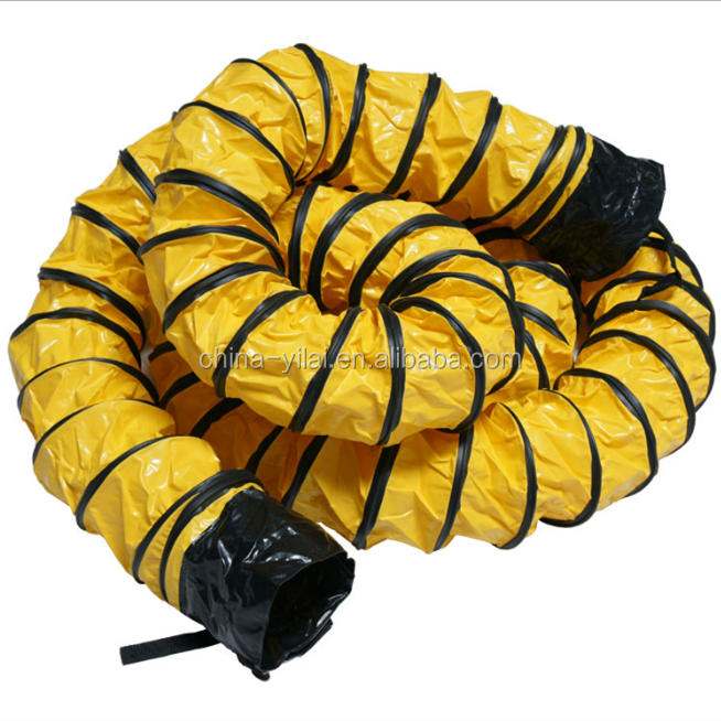 8inch x 7.6mtr fire rated pvc ventilation flexible air ducting, marine portable ventilation duct
