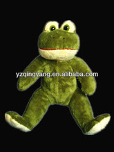 Good sale stuffed animal cheap and cute soft plush green frog toy