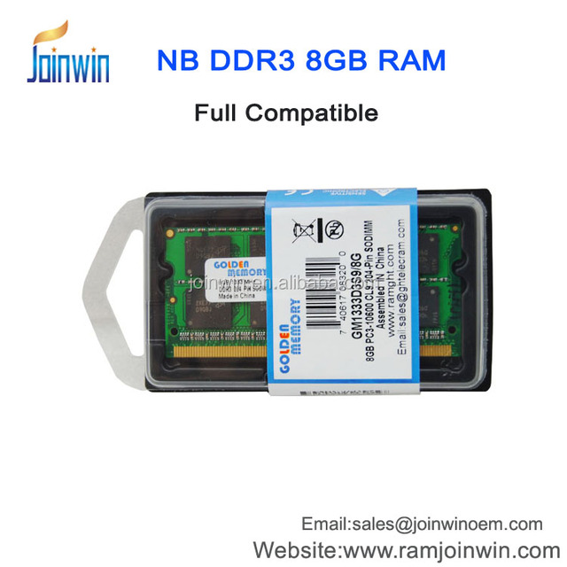 Fast delivery 204-pin pc3-10600 ddr3 laptop ram memory 8gb 1333mhz