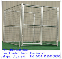 Pet house metal dog play pen 5 gauge galvanized steel wire welded mesh pens portable dog pens