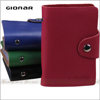 The Factory Wholse Good Quality Drop Shipping Online Multi Vinyl Slips Real Leather Credit Card Holder with Snap Closure